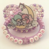 """Sleepy time"" LTS Adult Pacifier from Deadly littles"