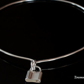 Day Collar Choker Necklace - Sterling Silver - Sterling silver padlock clasp  - Unisex