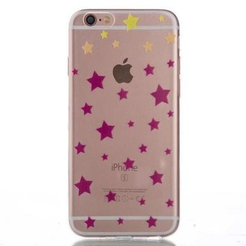 Ultrathin Transparent Stars iPhone 5se 5s 6 6s Case Originality Cover Gift-170928