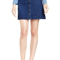 Two by Vince Camuto A-Line Denim Miniskirt | Nordstrom