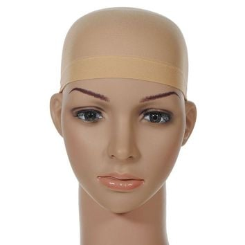 Hair Mesh Wig Cap Hair Nets Wig Liner Hairnet Snood Glueless Dome Wig Cap 2Pcs Stretchable Elastic Hair Net