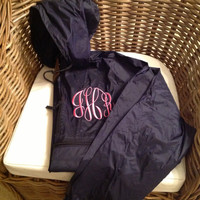 Monogrammed Hooded Rain Jacket