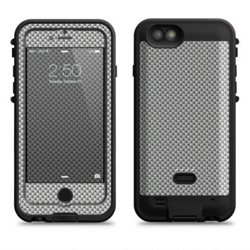 The Gray Carbon FIber Pattern  iPhone 6/6s Plus LifeProof Fre POWER Case Skin Kit
