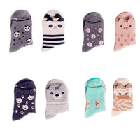 2016 New Women Socks Girl  Animal Socks  Panda Pig Bear Giraffe Cartoon Sock