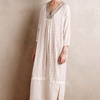 Shimmered Sands Caftan by Burning Torch White