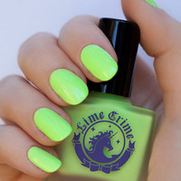 PASTELCHIO pastel lime green chartreuse nail polish