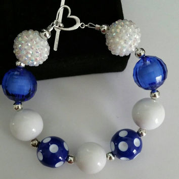 Blue moon chunky bubblegum bracelet.