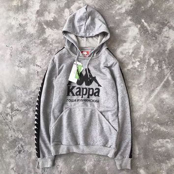 Kappa x Gosha Woman Men Fashion Hooded Top Sweater Pullover Hoodie-3
