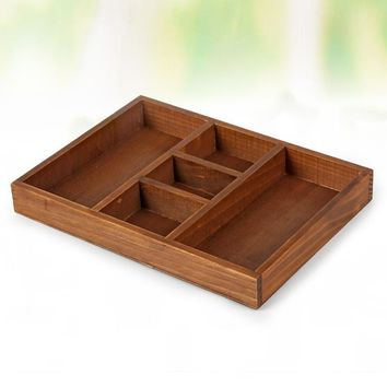 Home Wooden Vintage Jewelry Storage Box Cosmetic Accessory Box [6282703174]