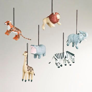 Paper Safari-Animal Ornaments, Set of 6 - World Market