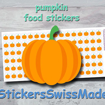 PLANNER STICKER || pumpkin || food || vegetable || small colored icon | for your planner or bullet journal