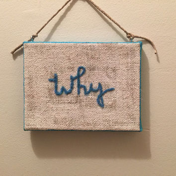 Why Needle Felted Burlap Wall Hanging