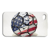 America USA Soccer Ball World Cup Cute Case iPhone Cover White Cool Phone Custom