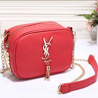 Perfect YSL Women Shopping Leather Crossbody Satchel Shoulder Bag