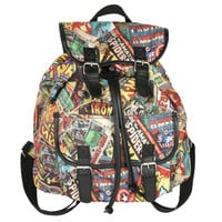 Marvel Universe Collage Buckle Backpack