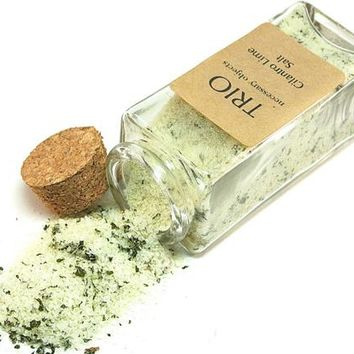 Cilantro Lime Salt- Flavored Sea Salt in Glass