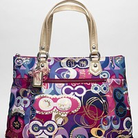 COACH POPPY POP C GLAM TOTE