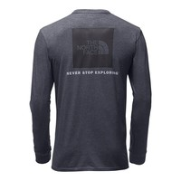 Men's Long Sleeve Red Box Tee in TNF Medium Grey Heather by The North Face