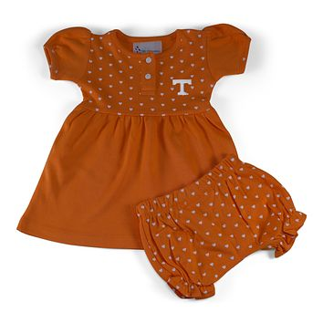 Tennessee Girl's Heart Dress with Bloomers