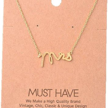 Must Have-Mrs Necklace, Gold