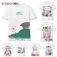 Coshome Kobayashi-san Chi No Maid Dragon Maid Kanna Kamui Toru T-shirts Cosplay Costumes T Shirts Men Women Tops Short Sleeves