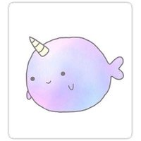 'Narwhal ' Sticker by lahtah