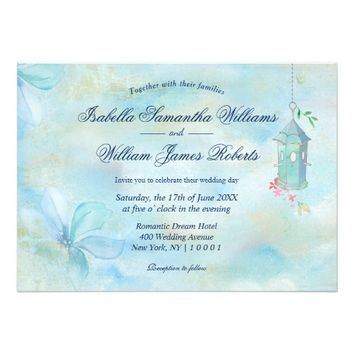 Elegant Floral Boho Wedding Invitation