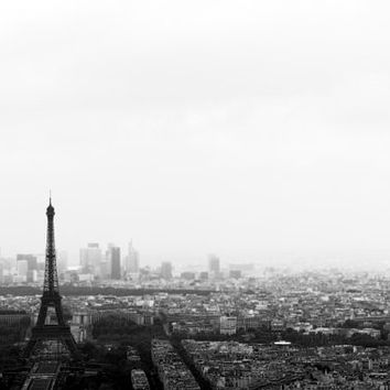 eiffel tower decor Paris photography black and white photography office decor vintage style landscape photography 4x6 5x7 6x8 8x10 10x15