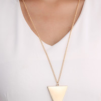 Golden Plated Triangle Chain Necklace