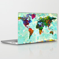 Abstract World Map Laptop & iPad Skin by Gary Grayson