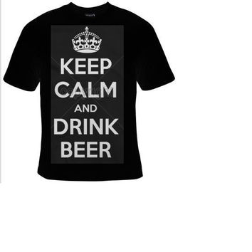 keep calm and drink beer t shirt ,funny cool statement humor tee shirt, t-shirts