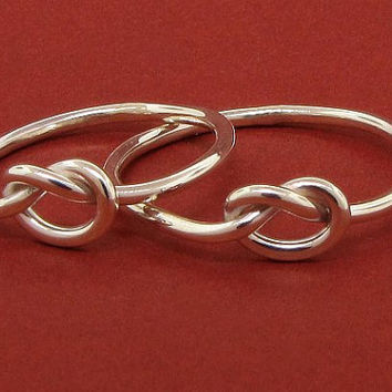 Love knot rings friendship rings sterling silver by TDNCreations