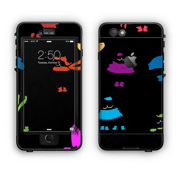 The Cute Fashion Cats Apple iPhone 6 Plus LifeProof Nuud Case Skin Set