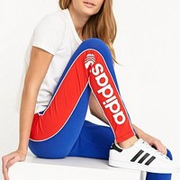 Adidas City London Leggings in Blue and Red - Urban Outfitters