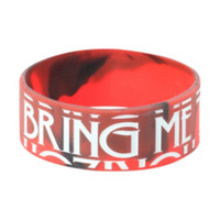 Bring Me The Horizon Red And White Rubber Bracelet