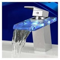 Amazon.com: LightInTheBox Temperature Sensitive Single Handle Centerset LED Lavatory Faucet, Chrome: Home Improvement