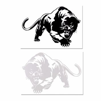 "AOZBZ Car-styling Tiger Car Sticker Decals Window Wall Sticker 7.7*5.4"" PET Black/White Car Body Decal Car Styling Accessories"