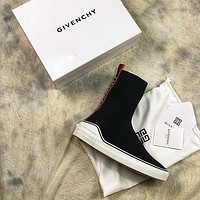 Givenchy Black Stretch Slim Knitted Wool Socks Boots