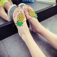 Pineapple Pattern Summer Fashion Style Lovely Women Gift  - flip flop = 4697509188