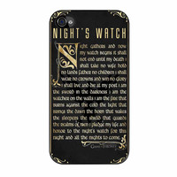 Game Of Thrones Nights Watch iPhone 4 Case