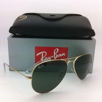 Gotopfashion New Ray-Ban Sunglasses RB 3025 L0205 58-14 LARGE METAL Gold Frames w/G-15 Lenses
