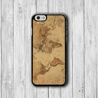iPhone 6 Case - Vintage Old World Map Atlas Drawing Phone 6 Plus, iPhone 5S Parchment iPhone 5 Case, iPhone 5C Case, iPhone 4S, iPhone 4