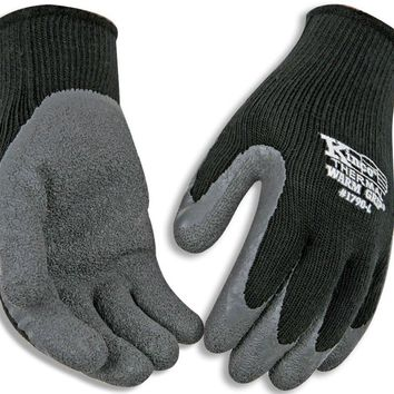 Kinco 1790-M Warm Grip® Men's Cold Weather Latex Coated Knit Glove, Medium, Black