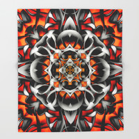Abstract Perceptions in red Throw Blanket by Octavia Soldani | Society6