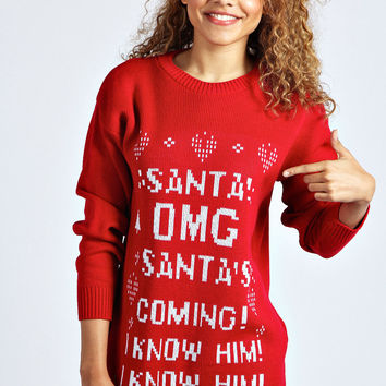 Samia Santa Elf Christmas Jumper