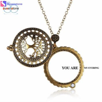 Charming Jewelry Victorian Gothic Magnifier Pendant Necklace Magnify Glass Monocle Necklace