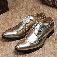 British Designer Men's Fashion Shinning Leather Brogues
