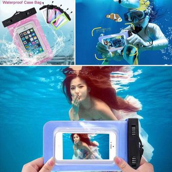 Universal Waterproof Phone Case For iPhone 6 6s 5S 5 7 Plus/Samsung Galaxy S6 S5 grand prime/Xiaomi redmi 3/huawei p8 lite case