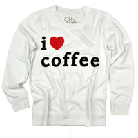Chaser Clothing | Chaser - I Love Coffee L/S Panel Tee » West Of Camden