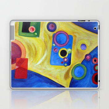 SPACE Abstract Expressionism Acrylic Painting Laptop & iPad Skin by Heaven7